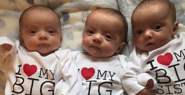 Mladá matka porodila zázračné trojčata: jeden z 200 milionů případů, že se takové děti ještě objeví