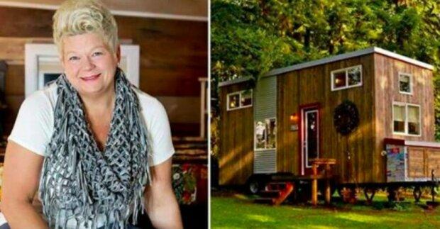 Chudá žena sama postavila dům o rozloze 18,5 metrů čtverečních, bohatý lidí závidí ženě