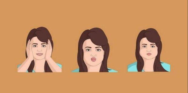 """""""Jak odstranit tváře"""": cvičení pro zpřísněnou tvář"""