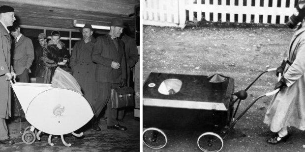 Podivné a dokonce i děsivé  dětské kočárky z minulosti