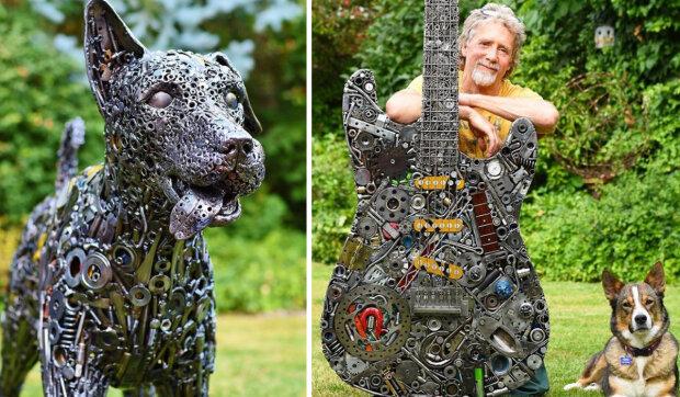 Sochař-samouk z odpadku vytváří skutečná umělecká díla
