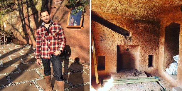 Muž přizpůsobil 700 let starou jeskyni na dům snů