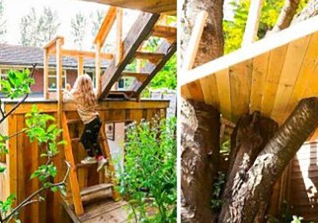 Starostlivý otec postavil svým dcerám domek na stromě: podrobnosti