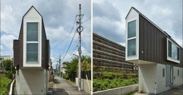 Malý úzký domek umístil všechny prostory pro život velké rodiny