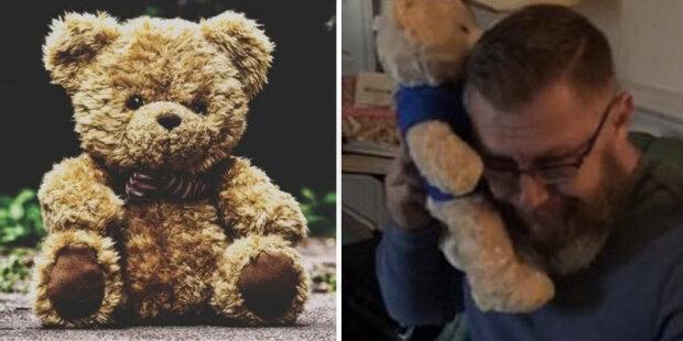 Muž dostal plyšového medvídka jako dárek a nemohl zadržet své slzy: Je to zvláštní odesílatel